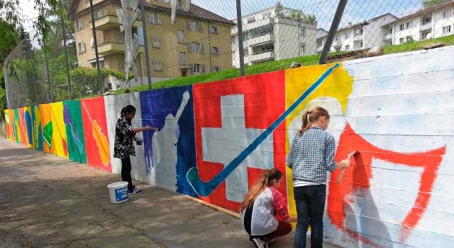 swiss-flag-vandalized
